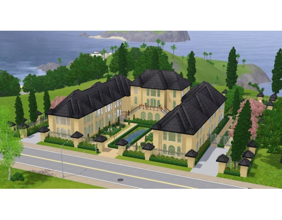 Красивые дома the sims 3 4