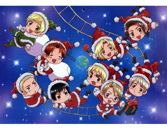 Hetalia christmas wallpaper