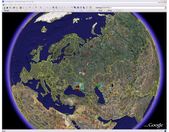 Google image world map