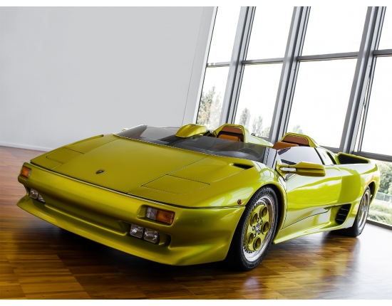 Photo lamborghini diablo jaune