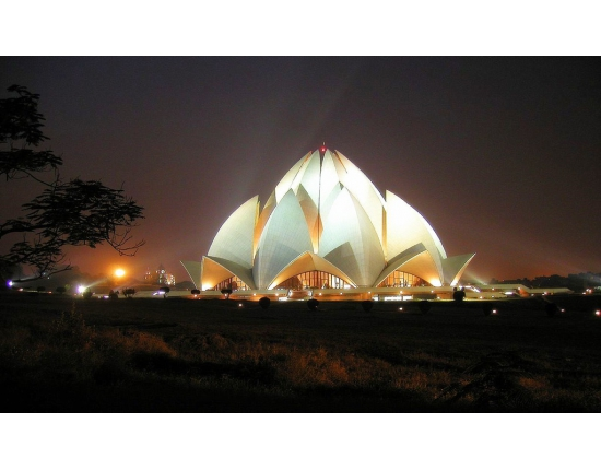 Photo lotus temple new delhi